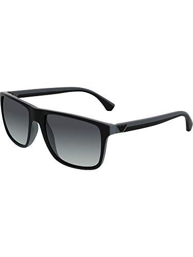 Emporio Armani EA 4033 Men's Sunglasses Black/Grey Rubber ()