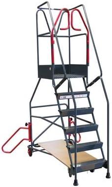 Escalera de ruedas con inmovilización automática de 6 peldaños, 200 kg: Amazon.es: Bricolaje y herramientas