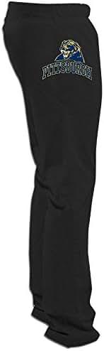 ElishaJ Men's University Of Pittsburgh Light Weight Workout Pants Black XXL
