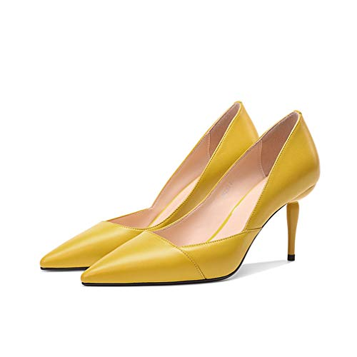 Printemps Nouveau Femmes 34 Hauts Fin Chaussures Mode Wild Talons Pointu Dames Gfphfm a Cuir Pour Nouvelles Simples 2019 Talon automne wWBq1n4C
