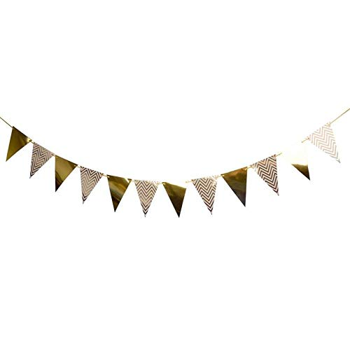 Streamers Confetti - Birthday Party Banner Triangle Wave Pattern Hanging Decoration - Streamers Banners Streamers Confetti Hang String Star Streamer Banner Paper Garland Party Decoration Part -