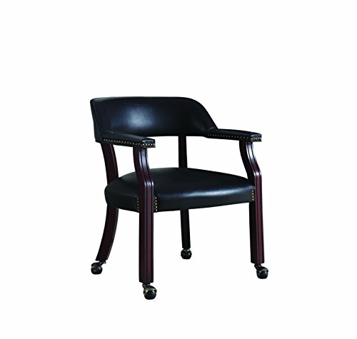 Coaster Home Furnishings Upholstered Guest Chair Black ()