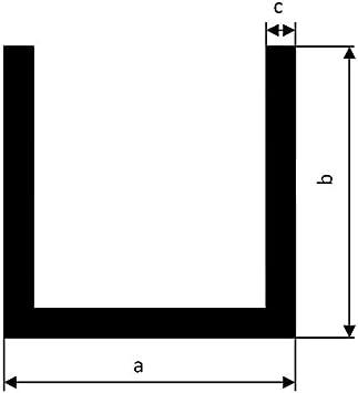 Profil/é en U profil/é U profil/é aluminium aluminium aluminium AlMgSi0,5