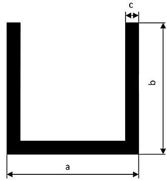 Profilo in alluminio a U profilo a U AlMgSi0,5