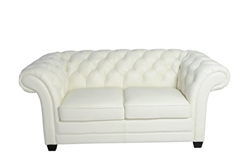 Lazzaro Victoria Loveseat, 76 by 40 by 33-Inch, White