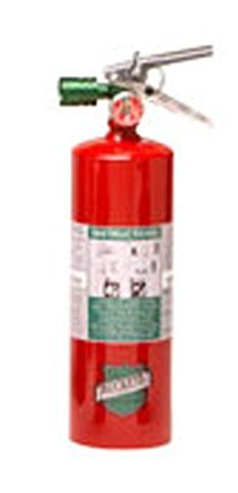 Buckeye 70510 Halotron Hand Held Fire Extinguisher with Aluminum Valve and Wall Hook, 5 lbs Agent Capacity, 4-1/4'' Diameter x 6-1/2'' Width x 16-3/8'' Height
