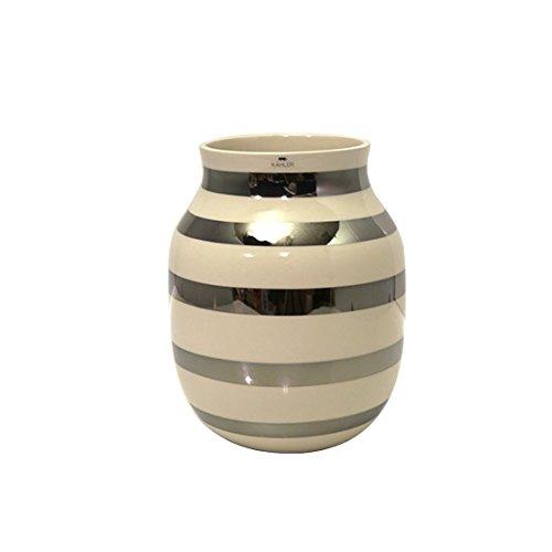 [ケーラー] Kahler オマジオ フラワーベース 花瓶 ミディアム Omaggio H200 silver 15212 [並行輸入品] B01BXV12XI