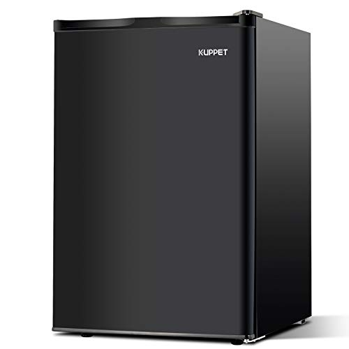 Kuppet Mini Fridge Compact Refrigerator for Dorm, Garage, Camper, Basement or Office, Single Door Mini Fridge, 4.5 Cu.Ft, Black