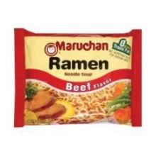 Maruchan Ramen Noodle Soup Beef Flavor - 3 oz. package, 24 per case by Maruchan