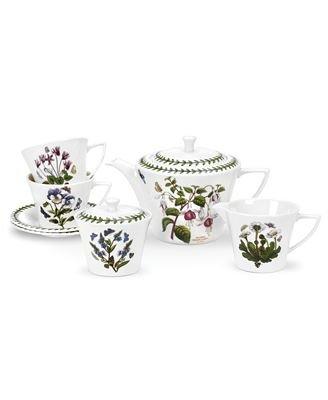 [Portmeirion Botanic Garden 9 piece Tea Set; Includes Teapot, Covered Sugar, Creamer, Teacups & Saucers] (Covered Sugar Cup)
