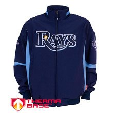 Majestic Toronto Blue Jays Mlb Baseball Men's Sports Wear Premiere Home Jacket Navy Blue (2X)