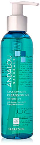 - Andalou Naturals Citrus Kombucha Cleansing Gel, 6 oz, For Oily or Overreactive Skin, Helps Clarify & Cleanse Pores for a Glowing Complexion
