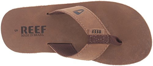 Reef Leather Smoothy, Sandalias Flip-Flop Hombre Marrón (Bronze Brown)