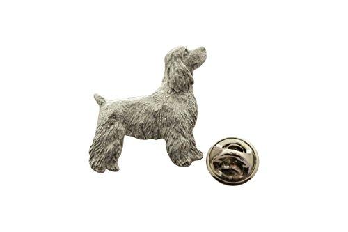 Cocker Spaniel Pup Pin ~ Antiqued Pewter ~ Lapel Pin ~ Sarah's Treats & Treasures