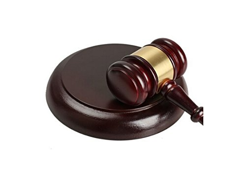 iBUY365 Wooden Handcrafted Gavel and Sounding Round Block By iBUY365