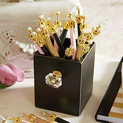 US Gifts Black Crystal Knob Pen Holder by US Gifts (Image #1)