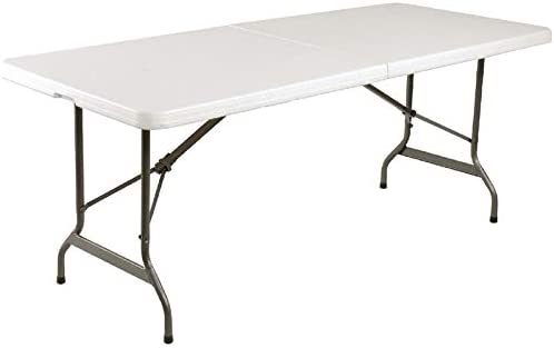 chiner - Mesa Plegable al Centro Blanca (183 x 76 cm.): Amazon.es ...