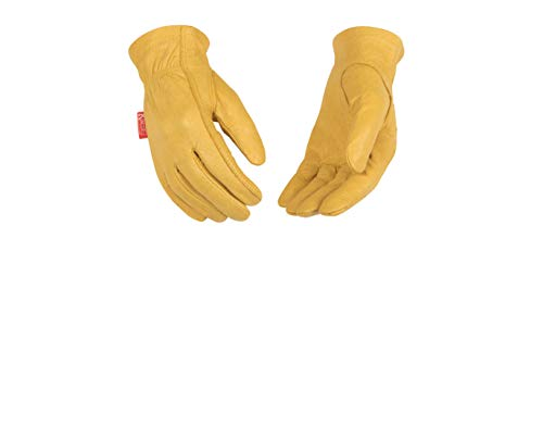 Kinco Kids' Grain Leather Driver Glove (2 Pair-Pack) (Leather Chore Glove)