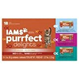 Iams Purrfect Delights 18-Can Variety Pack Canned Cat Food, 3 oz(Pack Of 4)