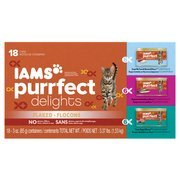 Iams Purrfect Delights 18-Can Variety Pack Canned Cat Food, 3 oz(Pack Of 4) by Iams