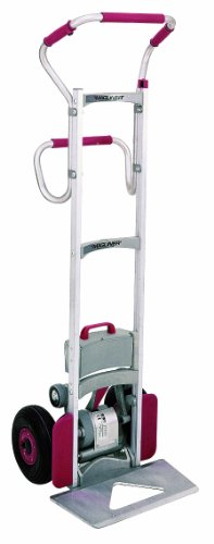 Magline-CLK140EGS4-Aluminum-Powered-Stair-Climbing-Hand-Truck-Ergo-Handle-Pneumatic-Wheels-300lbs-Capacity-62-Height-18-to-24-Length-x-19-Width