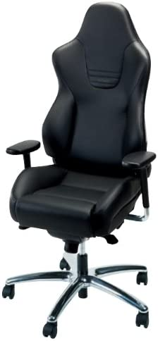 Amazon Com Recaro Sport Office Chair Leather And Cloth Without Seatbelt Guides Leather Black Bolsters Black Artista Inserts Kitchen Dining