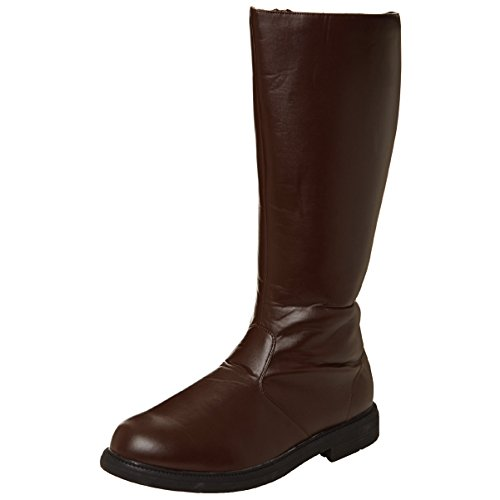 clearance affordable big discount sale online Mens Knee High Boots Pirate Boot Theatre Costume Black White Brown MENS SIZING Brown sale prices QNjb40WXZ3