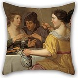 Alphadecor Oil Painting Jan Van Bijlert - Pulling Of The Pretzel Pillow Covers 16 X 16 Inches / 40 By 40 Cm For Relatives,teens,divan,play Room,couples,adults With Twin (Hunt Lite Seat)