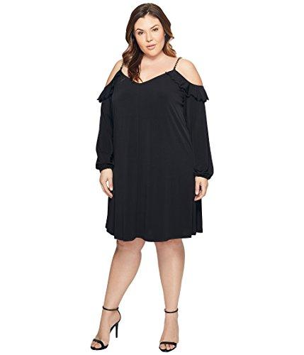 事件、出来事気分が悪い何でも[マイケル マイケルコース] MICHAEL Michael Kors レディース Plus Size Cold Shoulder Chain Strap Dress ドレス [並行輸入品]