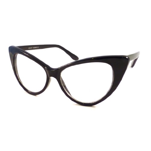 VINTAGE Women Sexy Cat Eye Oversized Frame Clear Lens Eye Glasses - Style Eyeglasses Cat