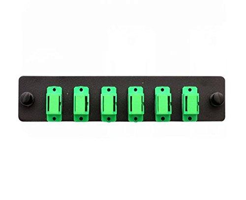 Cleerline SSF-SC06-SM-OS2-APC Plate (Green) SM/APC (OS2) Duplex SC 6-Fiber Zirconia Ceramic Sleeve (Zirconia Sleeve)