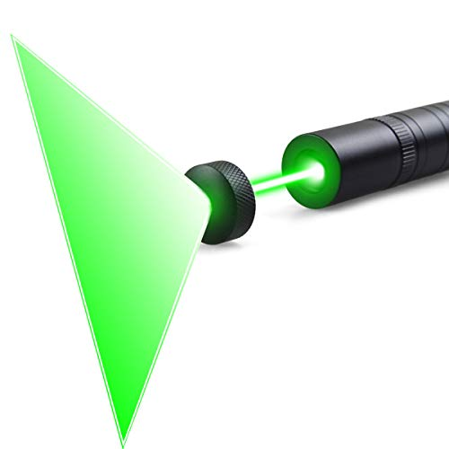 (FreeMascot 2-in-1 532nm Green Light Flashlight with Line Beam and Dot Beam 5 Miles Range Green Light Flashlight (Green Light))