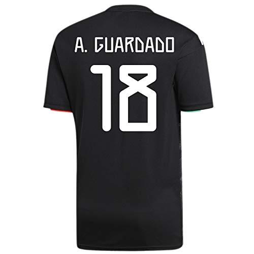 - A. Guardado #18 Mexico Home Men's Soccer Jersey 2019/20 (M) Black