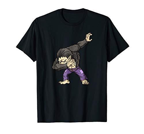 Halloween Gift Shirt Kids Dabbing Ware Wolf Dab Costume Tee -