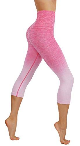 Flex Workout Pant - CodeFit Yoga Power Flex Dry-Fit Pants Workout Printed Leggings Ombre Print S-XXXL (XS USA 0-2, CF/YL601-LPK)
