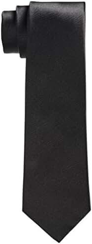 Mens Premium Black 100% Silk Tie Signature Wrapping and Gift Box (3