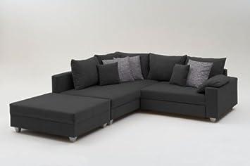 Charming Ecksofa Sofa Eckcouch Couch Schlafsofa Loungesofa Inkl. Hocker SOFORT  LIEFERBAR Nice Design