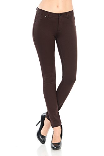 - YourStyle Stretchy Slim Fit Skinny Long Jegging Pants(S-3XL) (Small, Brown)