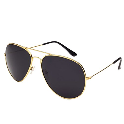 Desen Unisex Adult Aviator Sunglasses (Gold - Gold Cheap Sunglasses