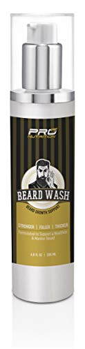 Beard Growth Shampoo & Wash- Stimulates & Repairs New Follicle Growth. Grow Stronger, Thicker, Fuller, Longer, Healthier Beard & Mustache Hair.