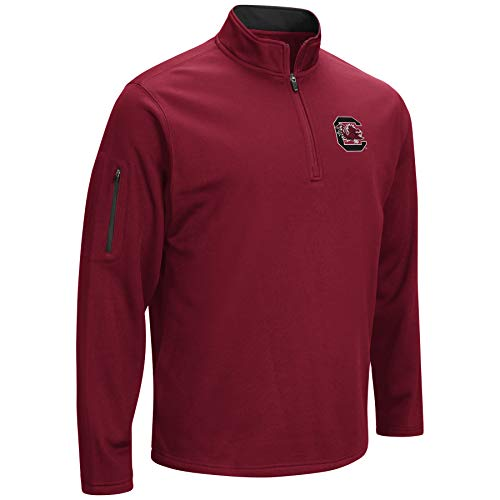 (Colosseum NCAA Men's VF Poly Fleece 1/4 Zip Pullover (South Carolina Gamecocks-Garnet, XX-Large))