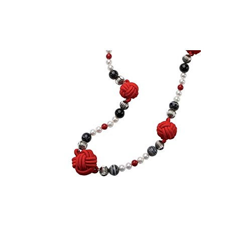 (Dolce & Gabbana D&G Jewels Necklace GEISHA DJ0862, Color: Red, Size: One Size)