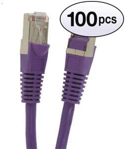 26AWG Network Cable with Gold Plated RJ45 Snagless//Molded//Booted Connector 100-Pack - 4 Feet Orange GOWOS Cat5e Shielded Ethernet Cable 350MHz 1Gigabit//Sec High Speed LAN Internet//Patch Cable