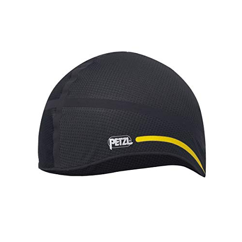 PETZL HAT Liner 2 Helm, Black/Yellow, L/XL
