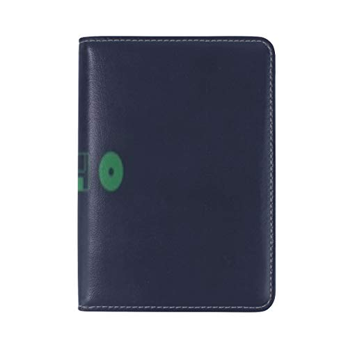 (Center Evolution Disk Diskette Leather Passport Holder Cover Case Travel One Pocket )