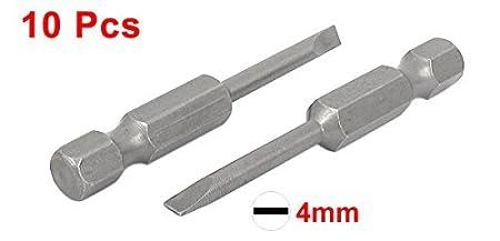 10 piezas de 50 mm de longitud de 4 mm Ancho magnética ranurados ...