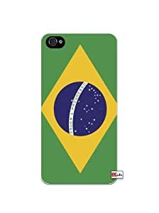Brazilian National Flag of Brazil Apple iPhone 5C Quality Hard Snap On Case for iPhone 5c/5C - AT&T Sprint Verizon - White Case