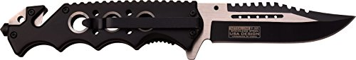 TAC-Force-TF-809BK-Spring-Assist-Folding-Knife-Two-Tone-Blade-Black-Handle-45-Inch-Closed