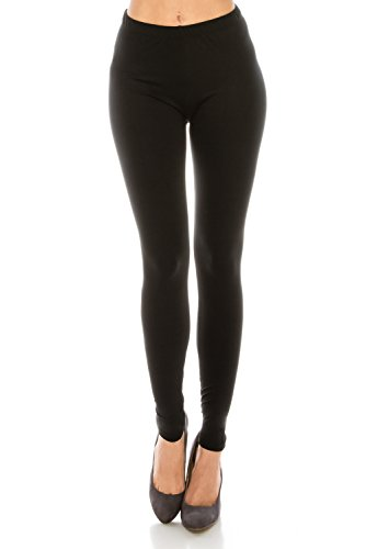 Reg Patterned - Women's Printed Fashion Leggings Ultra Buttery Soft Basic Solid and Patterned - (Black, Regular)