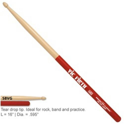 American Classic 5b Drumsticks (Vic Firth American Classic Drumsticks with Vic Grip, 5B Wood)
